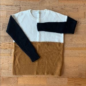 Like new! Madewell color block sweater SMALL